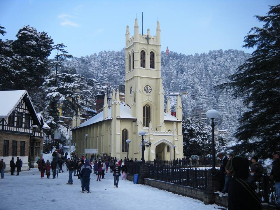 Christ Church in Shimla Tourist place