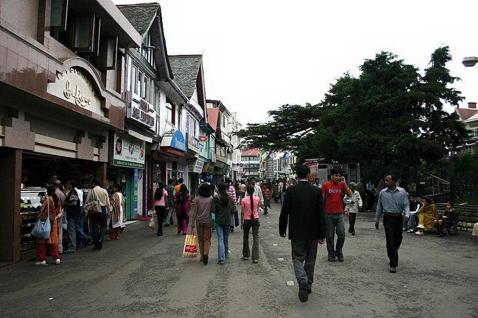 Mall Road Shimla Baljees