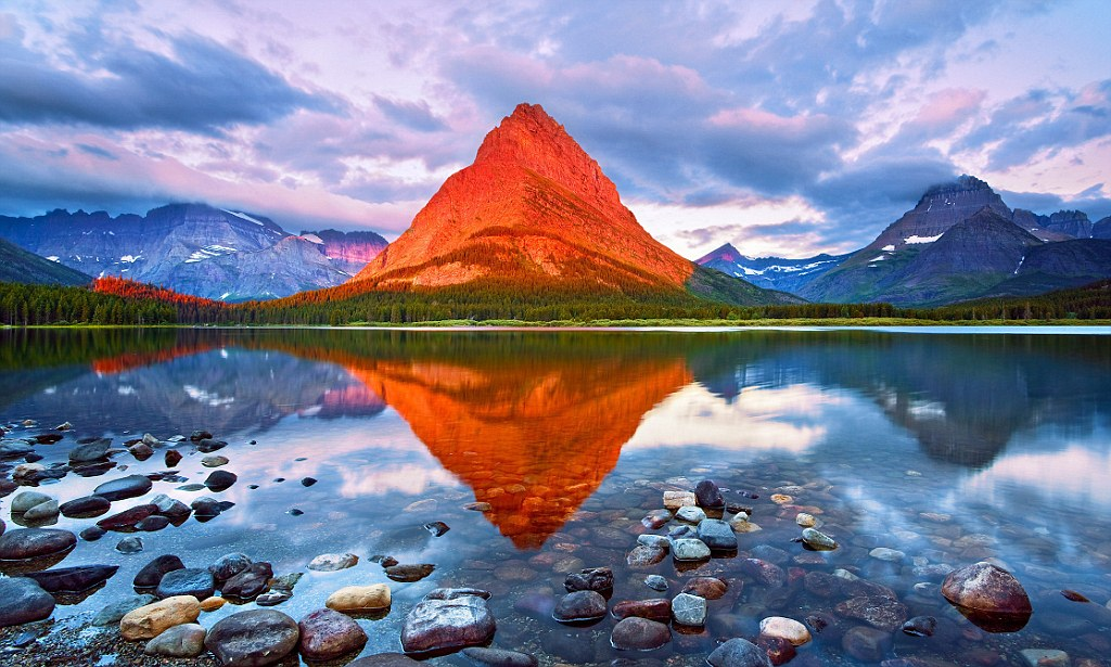 The Mount Grinnell in the Glacier National Park, Montana