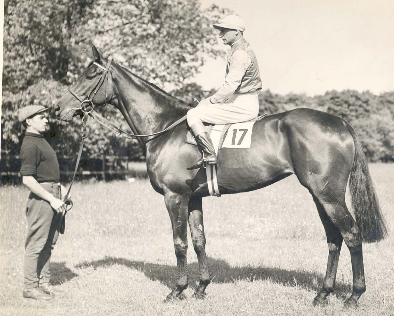 jockey Frank Hayes won a race at Belmont Park in New York
