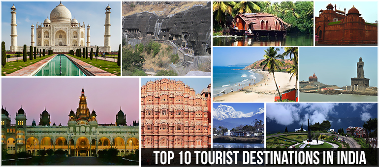 Top  Tourist Destinations In India
