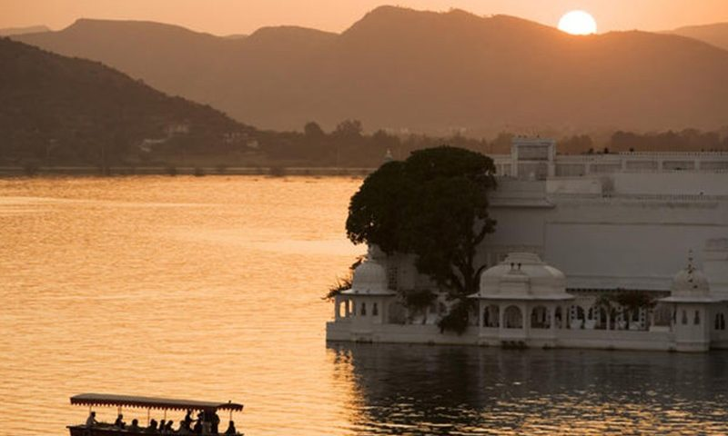 Sunset boat ride in Udaipur
