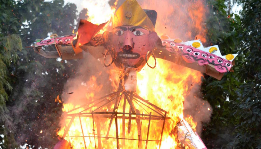 Experience the burning of Ravan Effigies in Delhi