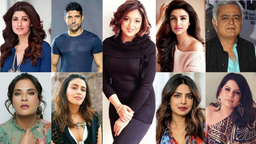 Top 10 Bollywood Stars Who Support Tanushree Dutta