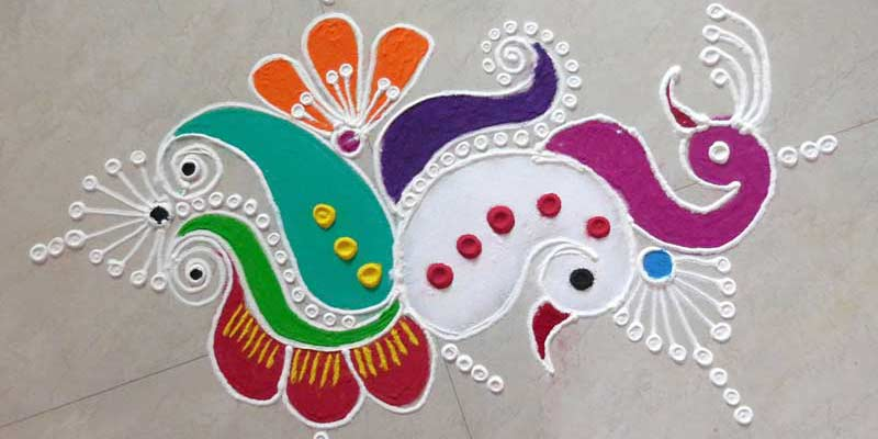 Composition of rangoli