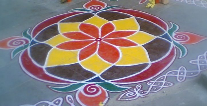 Rangoli is a part of rituals
