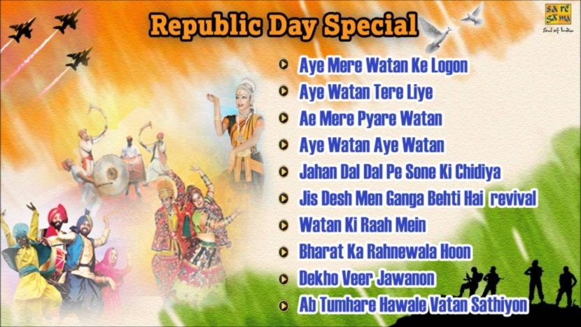 Top 10 All Time Favorite Patriotic Songs for Republic Day