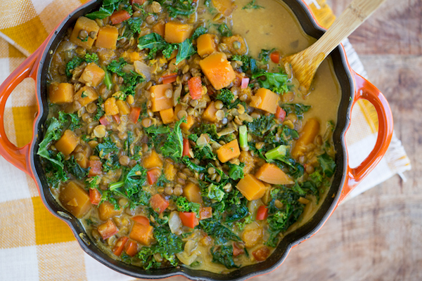 Lentil with Coconut Milk and Kale