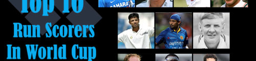 Top 10 Run Scorer In Cricket World Cup