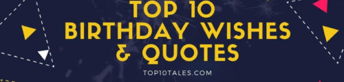 banner image describing that this post highlights top 10 special birthday wishes and quotes
