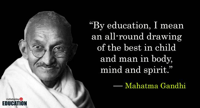 Top 10 Views of Mahatma Gandhi on Education