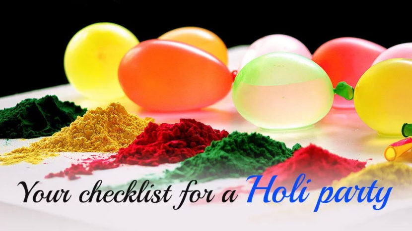 Top 10 Must do Things Before Attending Holi Party